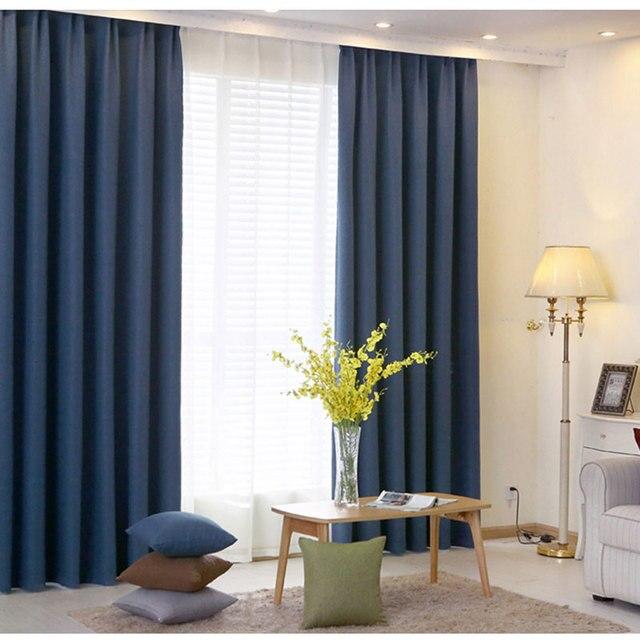 Gordijnen Slaapkamer Effen Kleur Moderne home Ontwerpen Imitatie ...