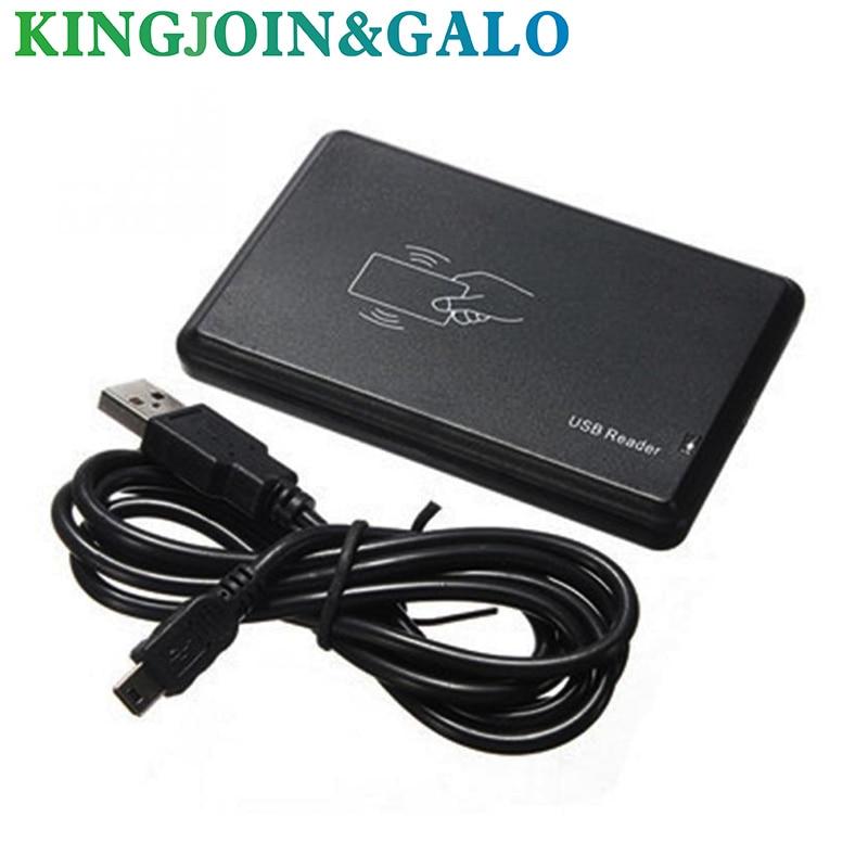 125Khz RFID Reader EM4100 USB Proximity Sensor Smart Card Reader no drive issuing device ...