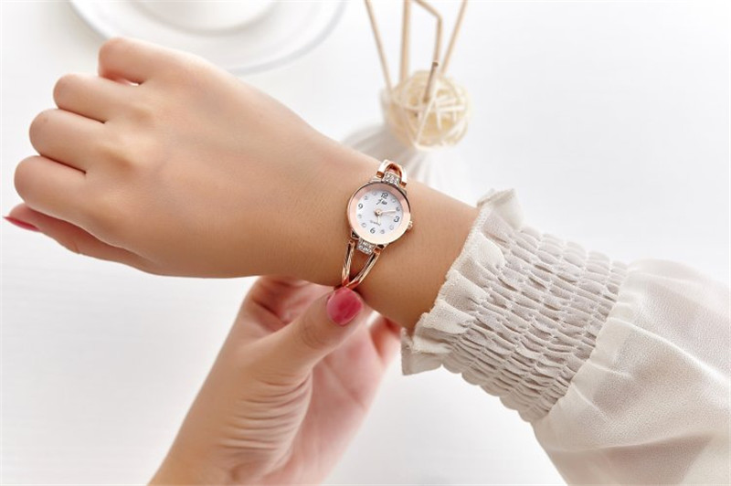 New Fashion Rhinestone Watches Women Luxury Brand Stainless Steel Bracelet watches Ladies Quartz Dress Watches reloj mujer Clock 12