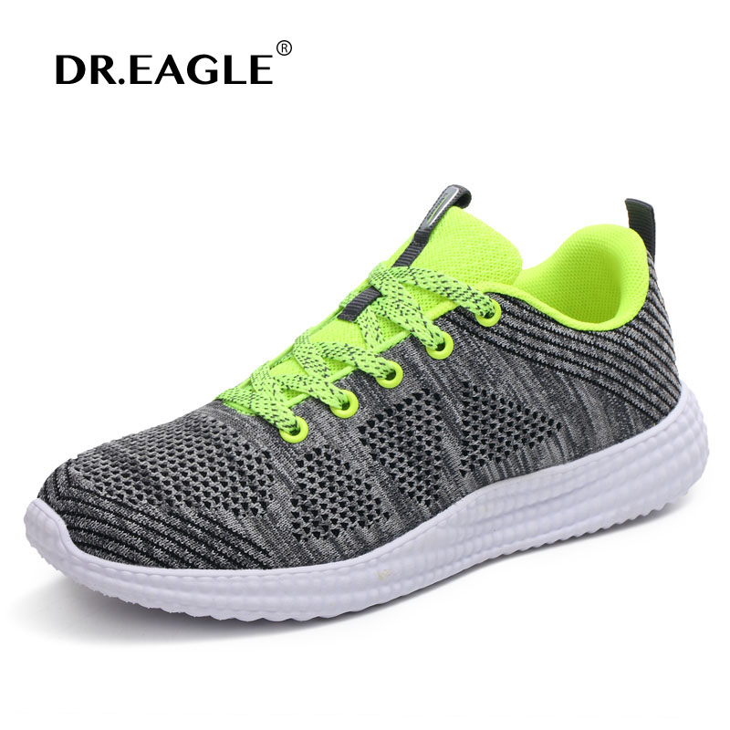 DR.EAGLE 2017 summer flyknit running shoes for men sports ...
