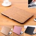 GRÃO de MADEIRA PU Estojo De Couro Para Mac book Air 11 Pro 13 caso capa bolsa para laptop caso retina13 polegadas para apple macbook air 13 caso