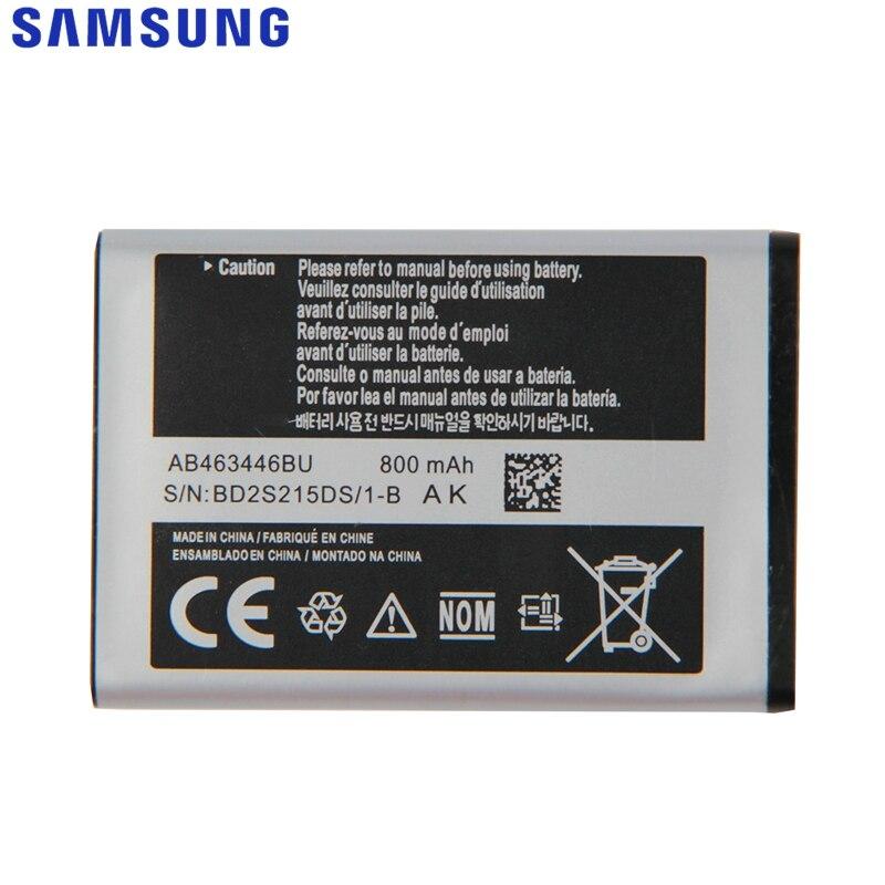 Bateria de Substituição Original Para Samsung X520 F258 E878 S139 M628 E1200M E1228 X160 Genuíno AB043446BE AB463446BU 800 mAh