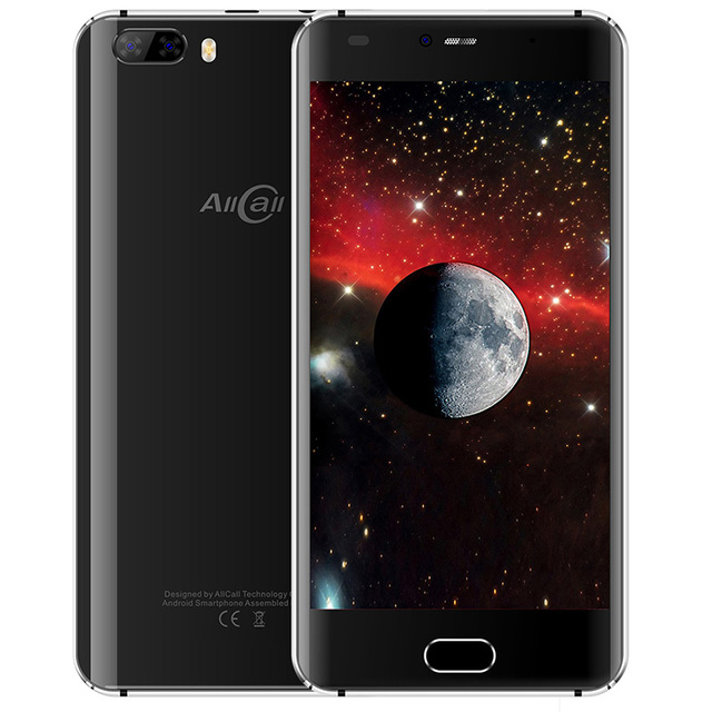 Allcall Rio 5.0'' 3G Smartphone Android 7.0 1GB+16GB MTK6580A Quad Core 1.3GHz GPS 3D Curved Glass Screen Dual Cams Cellphones