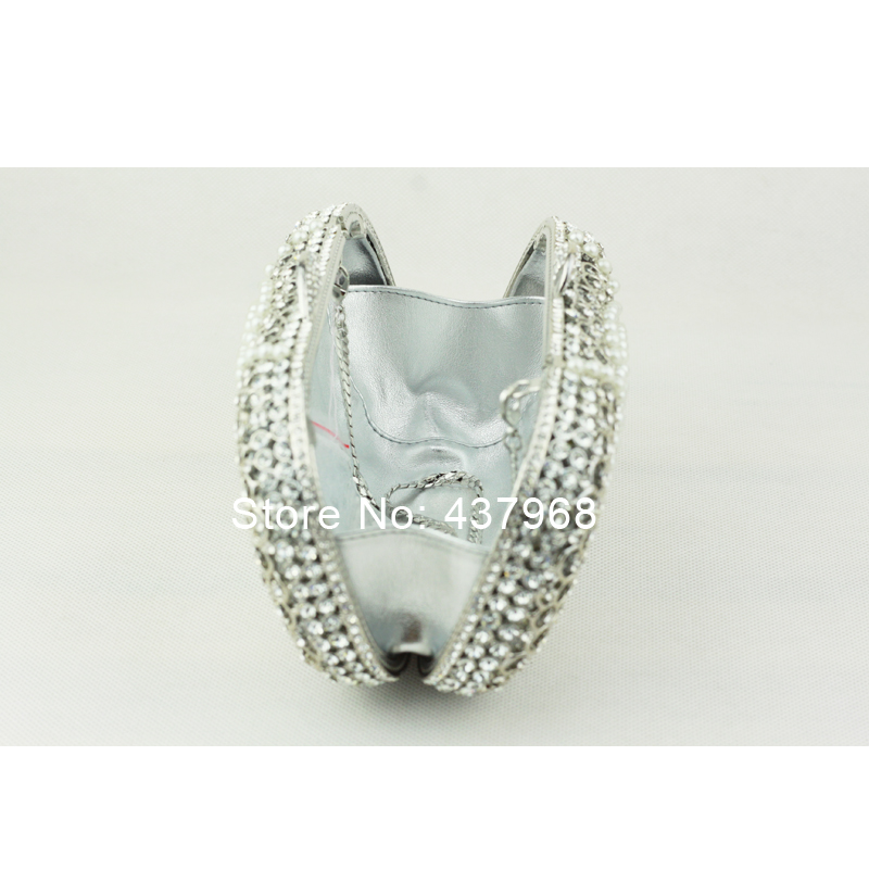 Luxury Crystal Clutch Bags Uk Hot Pillow Shaped White Pearl Handbags For Women Evening Bag With Chain In From Luggage