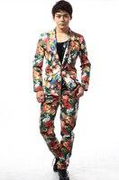 S 3XL 2019 Slim костюмы мужчины высококлассные Бизнес костюм высококлассные свадебный банкет сцены джентльмен для певца, танцора блейзеры костюм