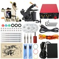 ITATOO Complete Tattoo Kit Machine Set Permant Makeup Machine Set  with Tattoo Tips Clid Cord Foot Pedal Power Unit High Quality