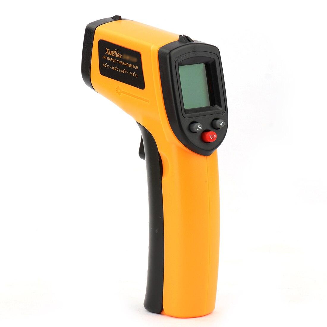 GM320 Senza Contatto del Laser Display LCD Digitale A Infrarossi IR di Temperatura del Termometro Pistola del Punto-50 ~ 380 Gradi Per industria Uso Domestico