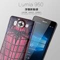 Novo Para Microsoft Lumia 950 Da Tampa Do Caso 3D Estéreo Pintura Alívio Silicon Back Covers Para Nokia Lumia 950 Casos de Telefone Capa Funda
