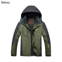 Spring Autumn Men Outdoor Waterproof Jackets Camping Hiking Jackets Hunting Climbing WindStopper Rain Fishing Sport Windbreaker