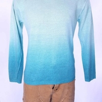 POLO RALPH LAUREN мужские синий OMBRE свитер 100% лен SZ M СЗТ $125