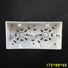 2pcs Wall Surface Mounted Switch Box Double Bottom Wire Box 86 Type Socket 2-Gang Tube Box 172*86*40mm Free Shipping