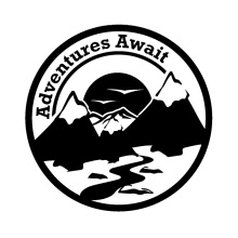 16cm*16cm Delicate Adventure Await Mountains Diaphanous Vinyl Car Sticker Window Decal Stickers