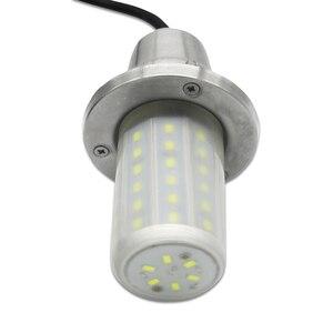 Image 2 - 30W Fish Attractor Lamp IP68 Waterproof Underwater Light Sea Night Fishing LED Lure Lighting DC12V