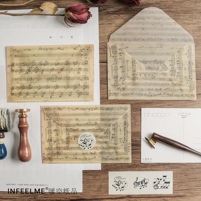 3 шт./упак. цветок сладкая музыка вечерние конверт открытка письмо стационарная бумага для хранения подарок