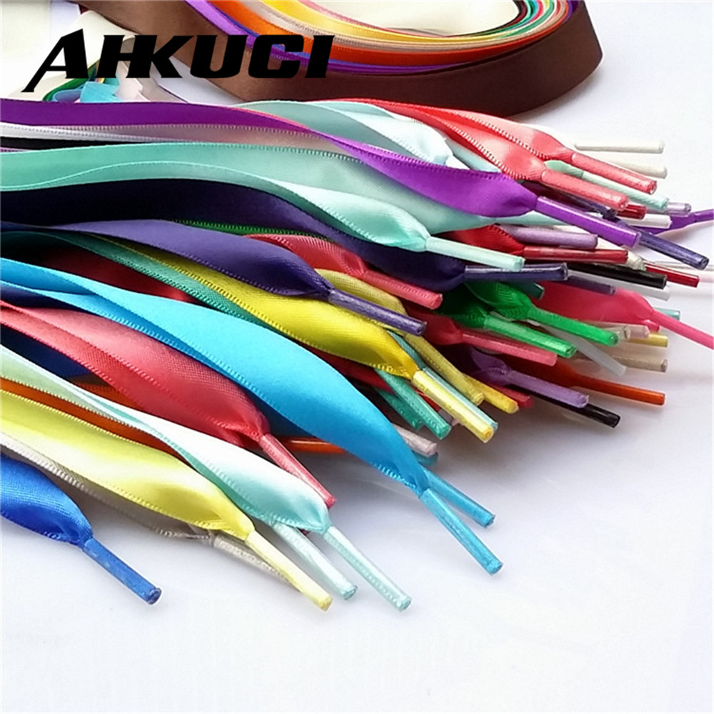 1 pair DIY Candy Silk Lace Sneakers Shoelace Ballet Shoe Laces Shoestrings Flat Shoes Laces Shoelaces for Sneakers 2mm 110cm 45 neon orange 5 16 flat shoelace for all basketball shoes