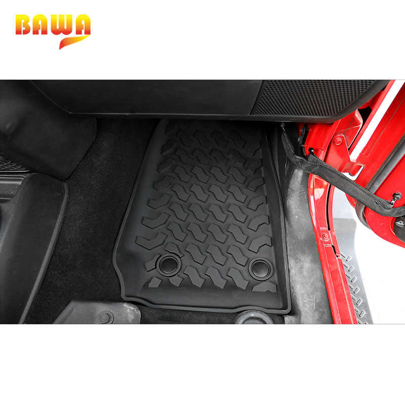 6 Colors Car Floor Mats for Jeep Wrangler 4 Doors 2007-2017 Waterproof Carpets