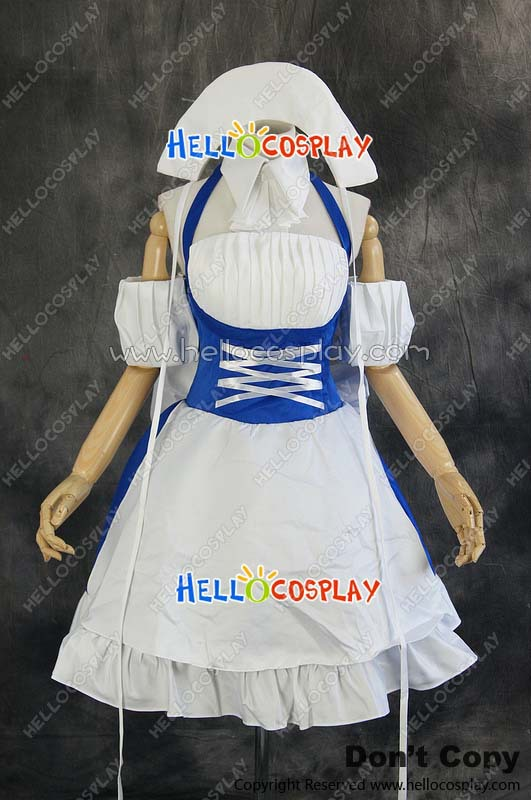 Chobits Cosplay Chi Blue Work Uniform Costume H008