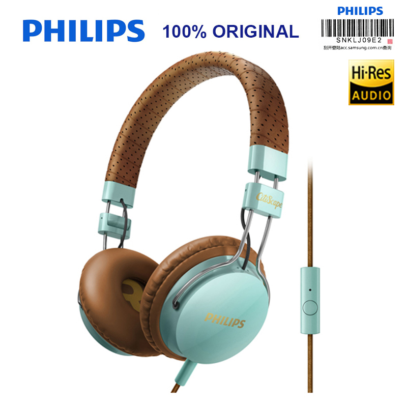 Philips Headphones SHL5505 3.5mm L-type Plug Computer Game Wire control Headset for Android Huawei GLAXY S8 Xiao Mi Free Gift mi headphones comfort white