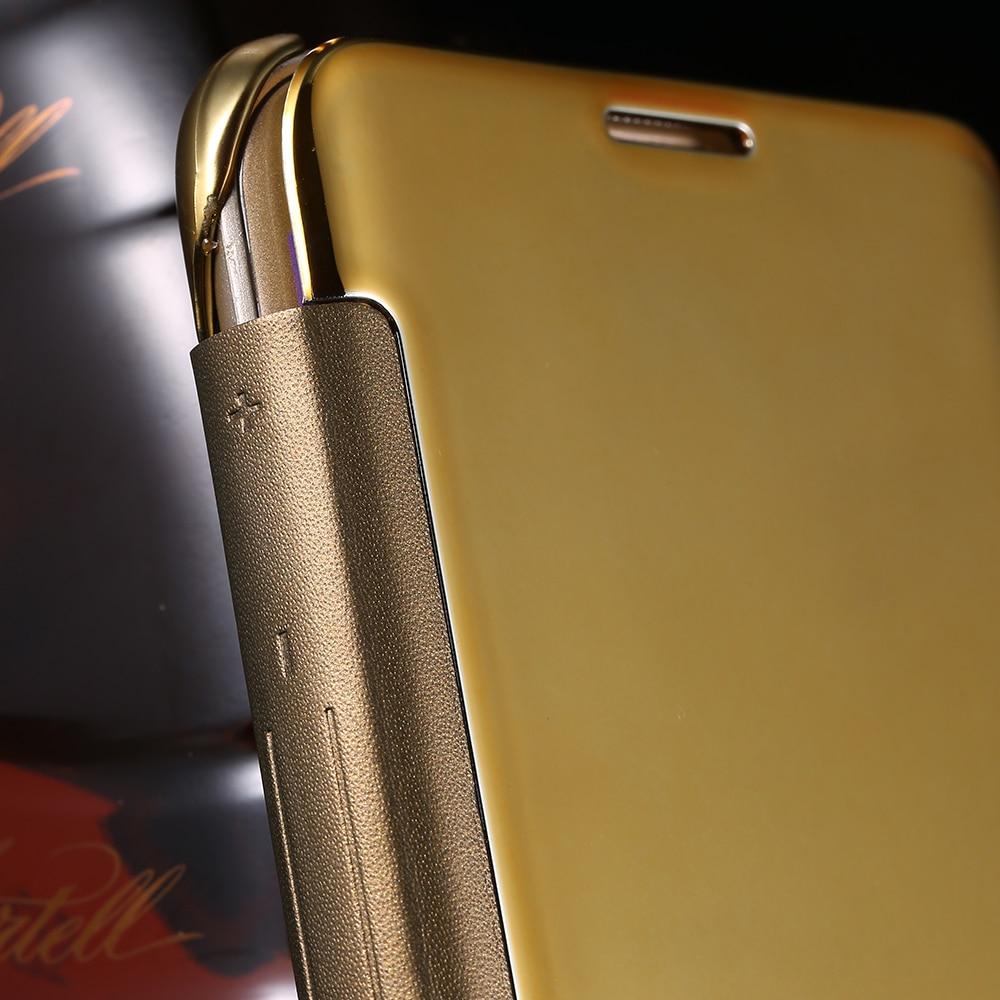 samsung s6 flip case gold