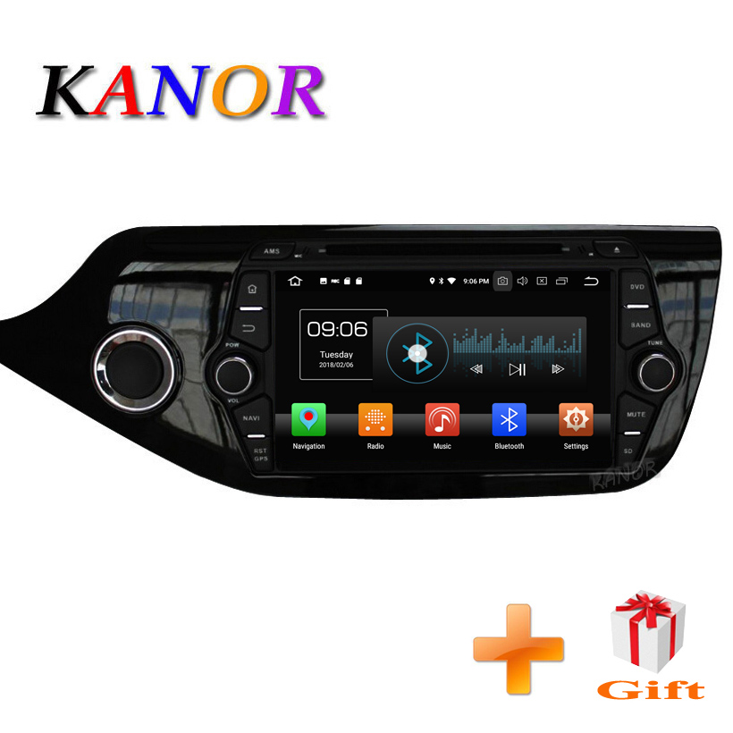 KANOR Android 8 0 IPS Octa core 4 32g font b Car b font Multimedia Player