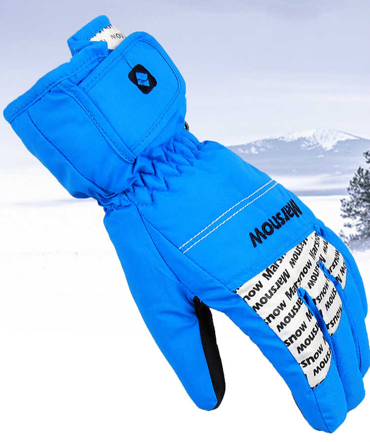 Guantes de esquí para hombre y mujer, Snowboard, moto, moto, guantes de invierno a prueba de viento, guantes de nieve Unisex cálidos, marcas