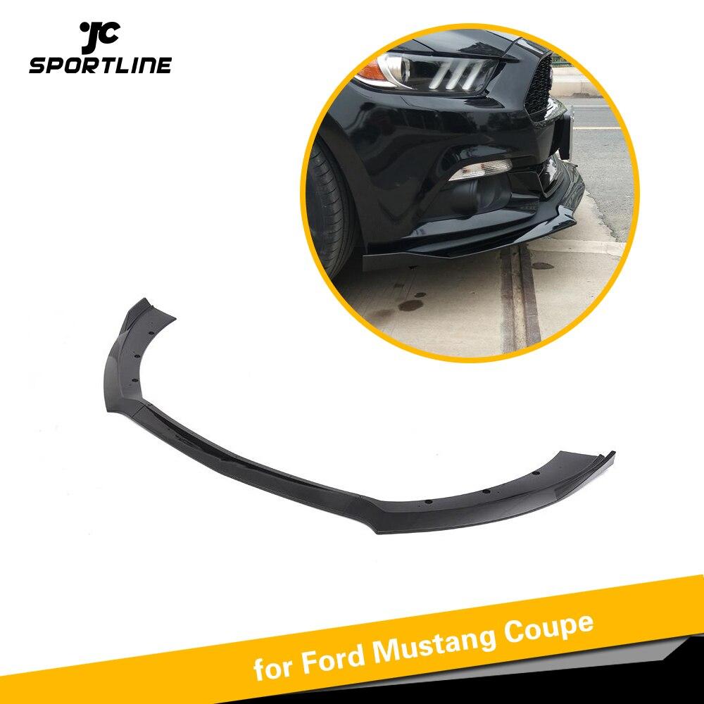 Fendeurs de becquet de lèvre de pare-chocs avant pour Ford Mustang 2015 2016 2017 JC Style PP mat noir brillant