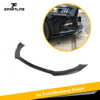 Front Bumper Lip Spoiler Splitters For Ford Mustang 2015 2016 2017 PP Matte Blak Glossy Black Not for Shelby GT350