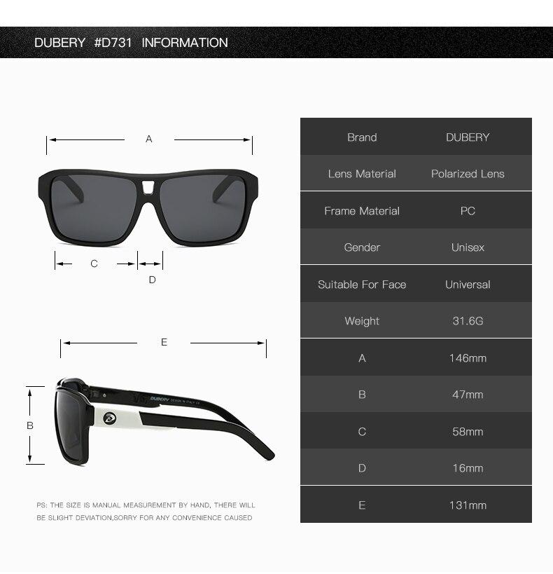 852f61194c99c DUBERY Marca de Design Polarizada Óculos De Sol Da Aviação Condução ...