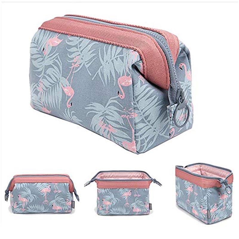 Flamingo Cosmetic Organizer Women Hanging Lazy Bag Storage
