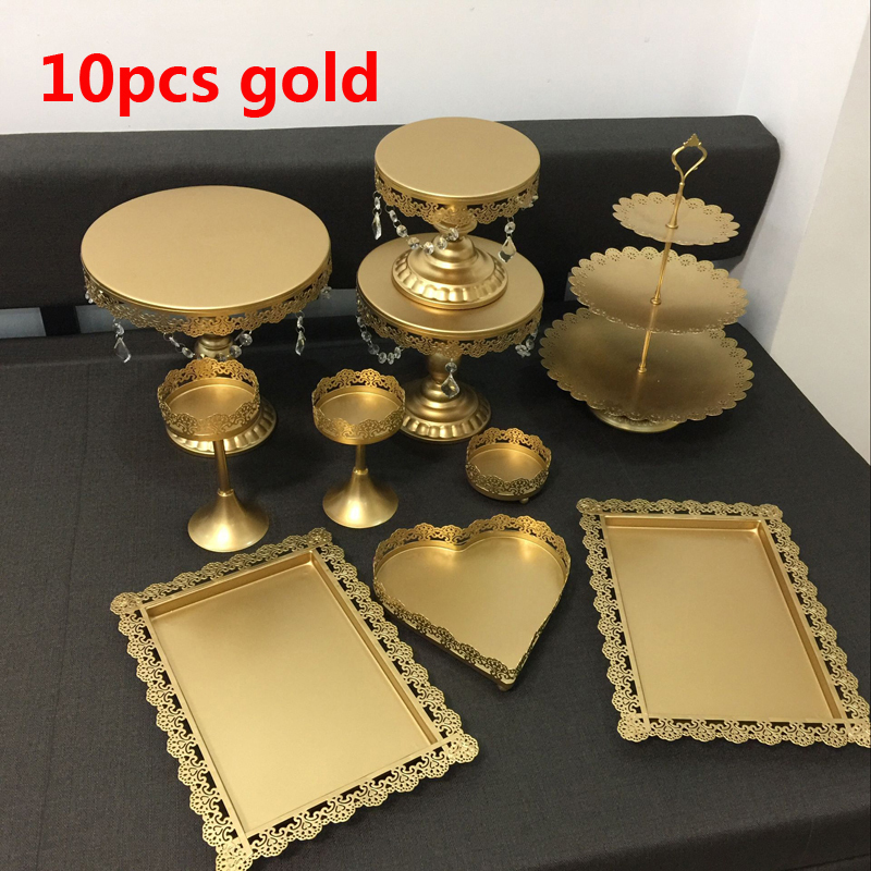 wedding cake making tools gold wedding cake stand set 10 pieces cupcake stand 23218