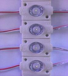100 pcs/lot 1SMD 3030 LED, IP65 d'injection Étanche led module, module mené par publicité DC12V 1.5 w avec lentille 180 degrés boîte à lumière