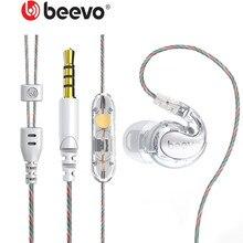 Beevo casque de Sport de course HIFI écouteur 3.5MM dans loreille DJ subwoofer lourd écouteurs avec Microphone et BV 390 à distance