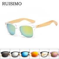 16 couleur bambou lunettes de soleil hommes en bois lunettes de soleil femmes marque Designer miroir Original bois lunettes de soleil rétro de sol masculino