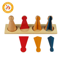 Montessori Wooden Toy Learn Score Arithmetic Fraction Skittles With Stand Home Mini Edition Children