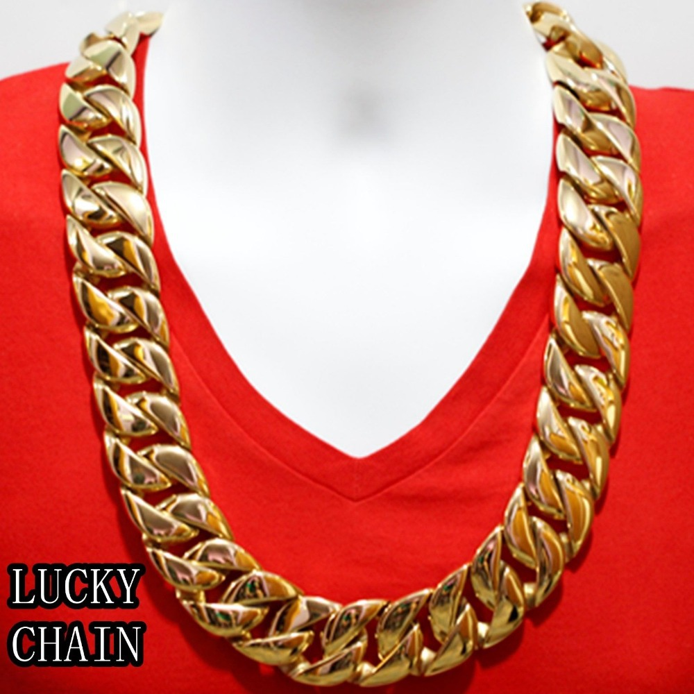 real for hollywood of hip cheap chain gold shinny fresh men jewelry elegant chains necklace