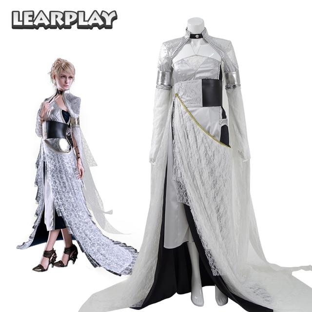 Xv Fleuret Costumi Final Nox Kingsglaiv Lunafreya Fantasy Dress AqxwXZ5