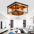 Lampadas de techo современный простой деревянный светодиодный потолочный светильник уютная винтажная гостиная спальня E14 светодиодные светильник...