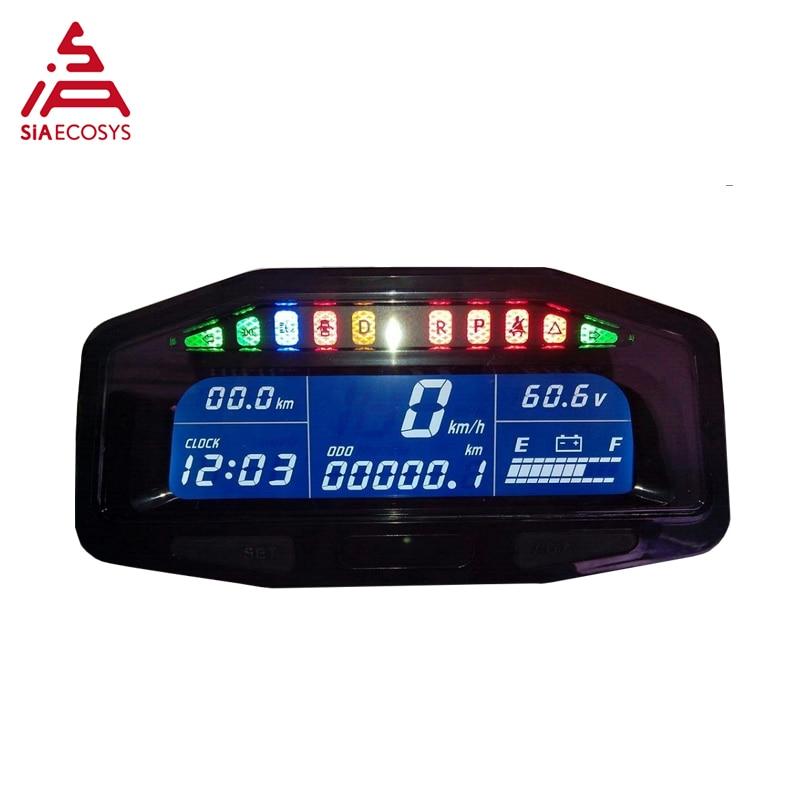 Electric Speedometer 48v - 96v For E-car Speedometer Hall Sensor Type