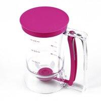 SZS Hot 2 x Cupcakes Massa dispensers Bakken Tools 900 ml capaciteit Muffin Cupcakes Praktijk Plastic Klopper Dispenser paars