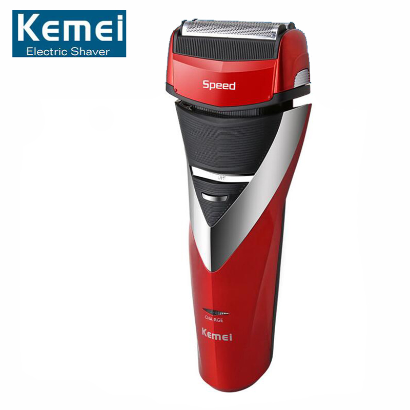 Original KM-8101 Reciprocating Razor Rechargeable Electric Shaver Triple Blade Shaving Razors Men Face Care 3D Floating kemei km 2016 men s electric shaver razor rechargeable reciprocating double blade shaving machine groomer wet and dry use s3435