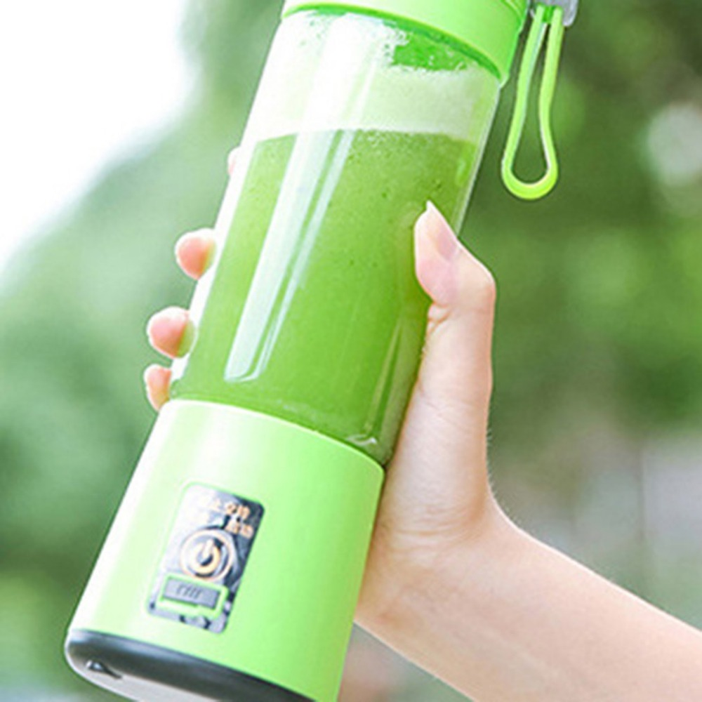 380ml Portable Mini Electric Fruit Juicer Handheld Smoothie Maker Blender Stirring USB Rechargeable Juice Cup Water