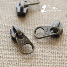 Diy handmade bags metal accessories ykk 3 nylon zipper dfw antique brass round toe