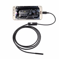 LESHP 6 LED 7mm Lens Cable Waterproof Mini USB Inspection Borescope Camera For Android Endoscope 640