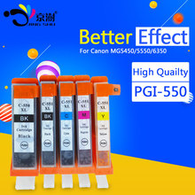 15pcs pgi-550 cli-551 pgi 550 cli 551 ink cartridge for canon pixma MG5400 MX925 MX725 MG5450 MG5550 MG6350 MG6450 MG5650 IP7250(China)