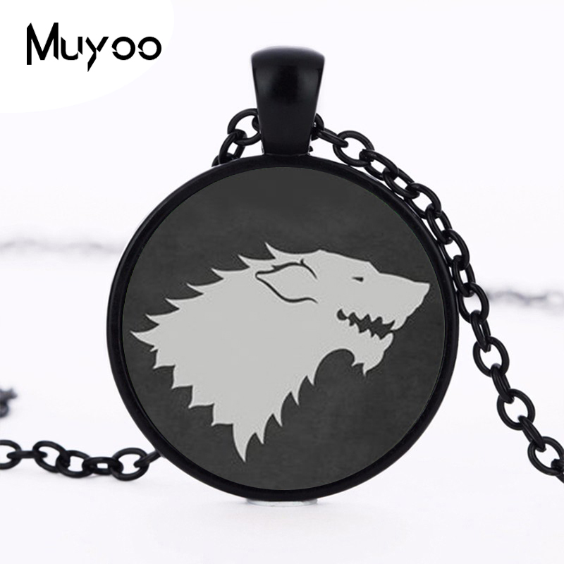 2017 new hot 2015 Games of Throne Inspired Collares Stark Accesorios Mujer Vintage Direwolf Men Jewelry HZ1 image