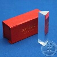 Physik prisma 10*3*3 cm Optische laborgeräte K9 Optische glas kindertag geschenk box freies verschiffen