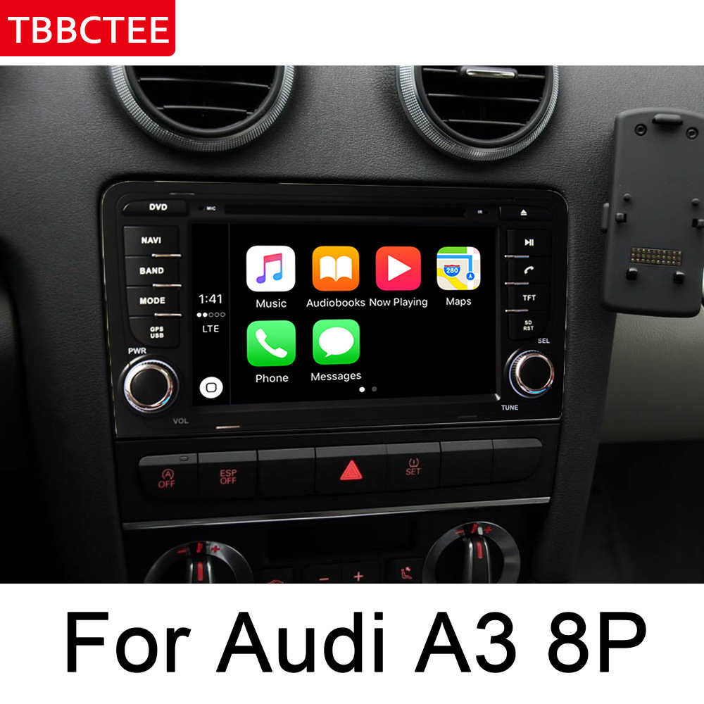 Para Audi A3 8P 2003 ~ 2012 MMI Multimedia Player Do Carro Android DVD Rádio Auto áudio GPS Navi Navigation mapa do bluetooth estéreo