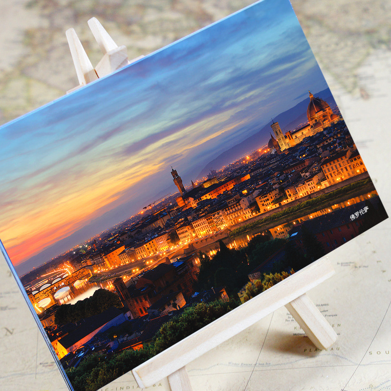 Office & School Supplies 6pcs/set charming City Series Florence Urban Landscape Postcard /greeting Card/birthday Card/christmas Gifts Convenient To Cook
