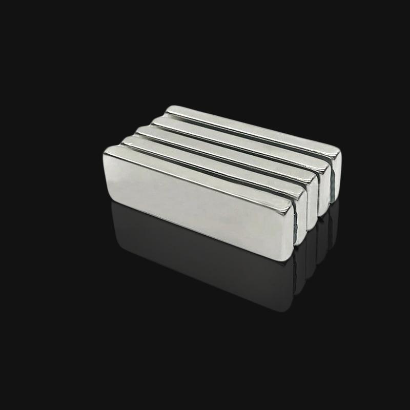1 Pc 50x15x5mm Vierkant Blok Lange Bar Super Sterke Magneet Zeldzame Aarde Neodymium Permanente Magneten N35 Krachtige