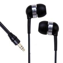 2016 New Wholesale 3.5mm Mini In-Ear Earpiece Ear buds Earphone for iPhone 5 MP3 Player iPod Black